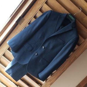 Ralph Lauren Boys Navy Pinstripe Suit - sz 8R